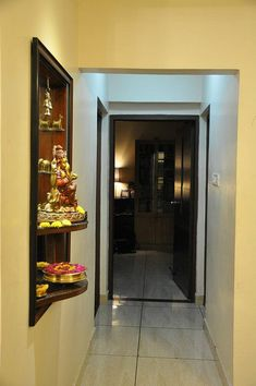 10 Serene Pooja Room Designs From an Interior Designer Pooja Room Door Design, Foyer Design, House Design, Home Decor Hooks, Home Entrance Decor, Room Decor, Living Room Interior, Home Interior Design, Temple Design For Home