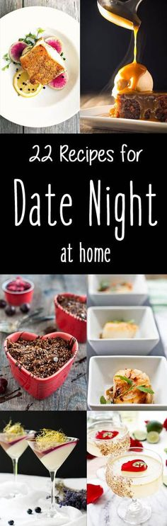 Date Night doesn't have to be at a restaurant to be special and delicious! These 22 Recipes for Date Night at Home will help you plan a gourmet meal without setting foot in a restaurant! #DateNight #Pescetarian #seafood