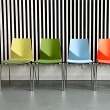 Four Cast Four flere farvet stol med sædepolstring. Four Design