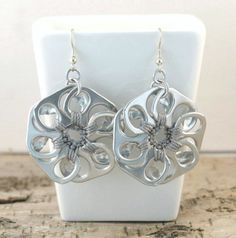 Soda Tab Flower Earrings