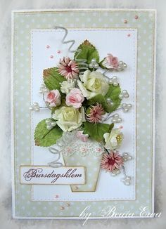 lovely card, very effective absolutely stunning...too pretty to give away. I would frame it. --mjr