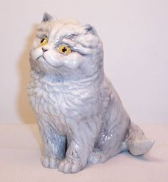 Vintage 1978 Royal Worcester Cat Figure Blue Persian Kittens 1970s Perfect | eBay