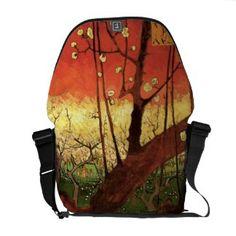 Van Gogh Japanese Flowering Plum Tree, Vintage Art Courier Bag
