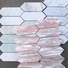 Our Mini Kite Marble Mosaics are available in there stunning colours, Rosa Potagallo, Pearl Jade and Bianco Carrara. #featuretiles #mosaictiles #marblemosaics #marbletiles #bathroomtiles #kitchentiles #marblemosaicbacksplash #marblemosaicsplashback Marble Mosaic, Mosaic Tiles, Mosaics, Room Tiles, Kitchen Tiles, Feature Tiles, Splashback, Carrara, Kite