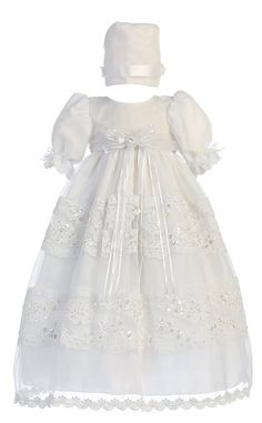 Baby Girl White Organza with Lace Gown Christening Baptism Hat L (12-18 Month)$53.98 & FREE Shipping. FREE Returns.