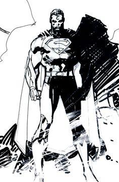 Superman sketch by Jim Lee