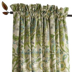 "Paisley Print Gardenia Window Panel - 84""L"