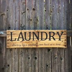 Laundry sorting life's problems one load at a time #rusticdecor #palletwood #palletsign #texasrusticwooddecor #laundryroom #laundryroomdecor #laundry #laundryproblems #rusticcharm #rusticchic