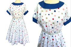Vestido Dot, Outfits Fiesta, Rockabilly, Holiday Party Outfit, Dot Dress, Manga, Swing Dress, Summer Garden, Party Garden