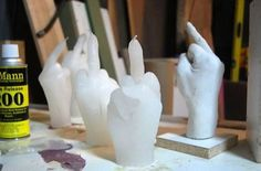 Middle finger candles make for poetic protests -- these just scream @wwwbigbaldhead