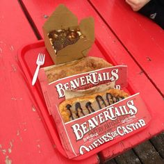 The Canadian Combo! BeaverTails pastries and poutine! Instagram photo by @Bethany M. (Beth)