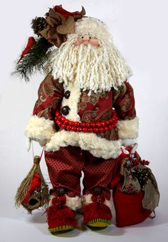 Little Souls The Great Mr. Claus Doll Diy Christmas Ornaments, Christmas Decorations, Snowman Crafts, Diy And Crafts, Santa, Teddy Bear, Dolls, Fabric, Kids