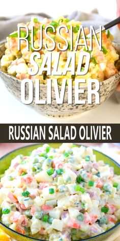 If you love traditional American potato salad, you will enjoy this Russian salad Olivier. salad with egg mayonnaise Russian Salad Recipe, Russian Potato Salad, Russian Recipes, Healthy Diet Recipes, Healthy Foods To Eat, Real Food Recipes, Healthy Eating, Cooking Recipes, Sea Food Salad Recipes