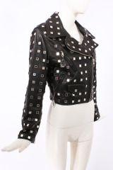 Rare Moschino Mirrored Leather Moto Jacket thumbnail 2