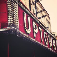 vintage marquee over the Uptown Theatre on the Far Northside in Chicago, IL, Tracy Capone #Chicago