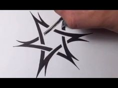 Drawing a Tribal Star of David Tattoo Design - Quick Sketch - YouTube
