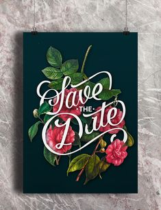 Graphic Design / Poster Inspiration / Yotam&Rona on Behance. Frick ya this is beautiful. Typography Letters, Typography Logo, Graphic Design Typography, Graphic Design Illustration, Creative Typography, Flower Typography, Wedding Typography, Font Design, Lettering Design