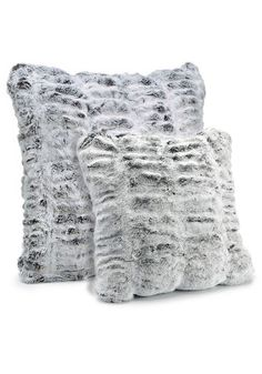 Frosted Grey Mink Couture Collection Faux Fur Pillows - 1