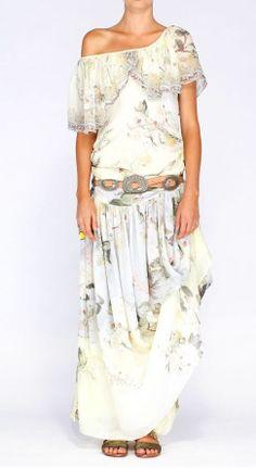 New Camilla Franks Silk Climbing Roses Drop Waist Frill Dress Size 1