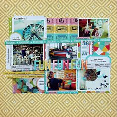 Jill Sprott created this layout for Summer CHA 2012
