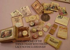 112 Scale Miniature Millinery/Haberdashery by heirloomsbysusanh Diy Dollhouse, Dollhouse Furniture, Dollhouse Miniatures, Perfume Display, Bottle Display, Haberdashery Shop, Scale Art, Bakeries, General Store