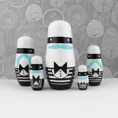 ahaha! SO cute! Mustaches and bow ties and nesting dolls?! Three of my favorite things =]