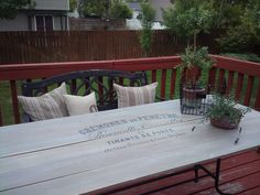 After they created table top. Similar idea to mine but not exactly. Good plan though. Same type of wood...inexpensive cedar fence boards. Would use a outdoor wood sealer and stain suitable for NW Rain. Ana White lives in Alaska and does a lot of outdoor wood project and uses sealer.