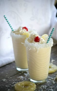 A cold, refreshing taste of the tropics in each sip of these Pina Colada Milkshakes.