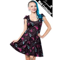SOURPUSS RAY GUN SKATER DRESS