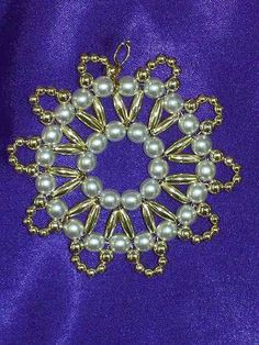 Scalloped Christmas Ornament Bead Craft Kit...Heirloom quality beads | eBay