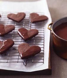 Chocolate Valentine's Day cookies