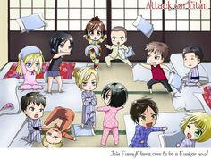 Attack on Titan ~~ Chibi Pillow Fight!!!