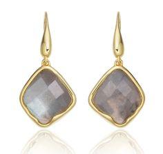 Gold Vermeil Riva Labradorite Wire Earrings