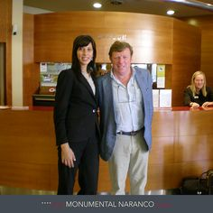 Nuestra compañera Bea del Hotel Silken Monumental Naranco Oviedo con César Cadaval, miembro del grupo humorista español Los Morancos.  Hotel Silken Monumental Naranco Oviedo: http://www.hoteles-silken.com/hoteles/monumental-naranco-oviedo/hotel/