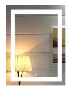 Inch Wall Mounted Led Lighted Bathroom Mirror with Touch Switch inch) Backlit Mirror, Led Mirror, Wall Mounted Vanity, Bathroom Wall, Master Bathroom, Bathroom Ideas, Modern Decor, Night Light, Diys