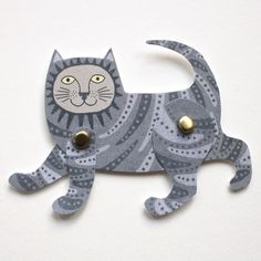 Cut Out and Make Cat Puppet Card by Alice Melvin | Cut Out and Make Puppet Greeting Cards by Alice Melvin | Alice Melvin | ARTIST CARDS Down To Earth Cards