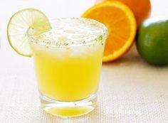 A lighter fresh take on a margarita! Fresh squeezed citrus juice and a splash of seltzer makes this fresh and lighter, with no added sugars! So go ahead, enjoy your margarita (or two) this Cinco de Mayo!!  To make a simple lime salt for the rim of the glass, grate a little lime zest and combine it with a coarse salt. Then use a lime wedge to wet the rim of the glass, then dip it in the salt. This is completely optional!   Skinnytaste Citrus Margarita Spritzer Skinnytaste.com  Servings: 1 •…