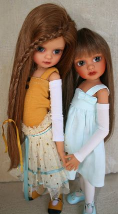 Amber Moon and Summer, Ball jointed dolls.