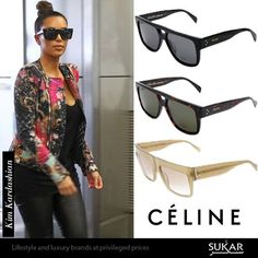 What do you think of this Kim Kardashian outfit? Shop one of her favorite shades with Céline sunglasses at up to 58% off online now at Sukar.com