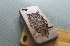 Walnut wood iphone 5c case owl iphone 5c case by SeeroseKim, $25.00