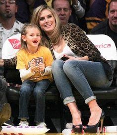 Leni Samual with mom, Heidi Klum. Heidi Klum, Wide Set Eyes, Star Wars, Mom Daughter, Daughters, Mein Style, Celebrity Kids, Reese Witherspoon, Look Alike