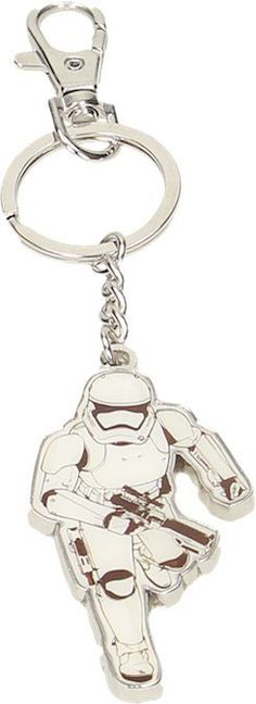 Llavero soldado Stormtrooper corriendo metálico. Star Wars Episodio VII Si eres un fan de la saga de Star Wars no te pierdas este estupendo llavero metálico de un soldado Stormtrooper corriendo 100% oficial y licenciado. Perfecto complemento para tus llaves.