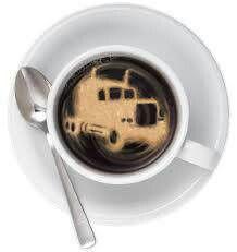 Truck drivers coffee