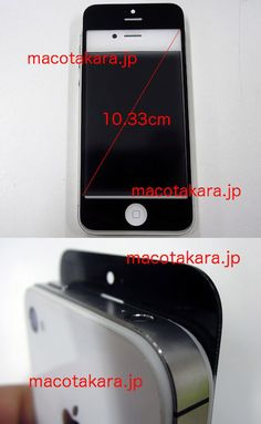 Dimensions and new design for the new iPhone?
