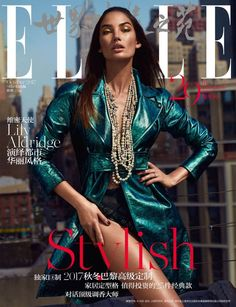 Lily Aldridge on ELLE China October 2017 Cover