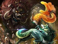 The Legend of Zelda: Twilight Princess / Wolf Link, Midna, and Dark Beast: Ganon / 「ゼルダの伝説まとめ(再投稿)」/「梟」の漫画 [pixiv] [03]