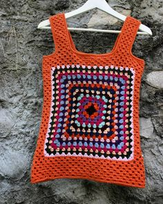 Tank top for girl #tank #crochettop #crochetforgirl #kiritzasworks in 100 % wool. Perfect for spring.