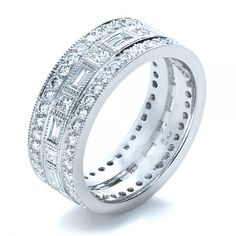 diamond wedding bands for women in platinum | Women's Wedding Rings-Custom Women's Diamond Eternity Band