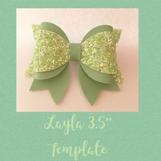 """Stunning rubber non slip template This makes The Layla medium hair bow 3.5"""" 