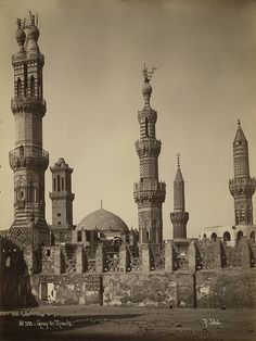 Egypt. Group of Minarets - A. D. White Architectural Photographs, Cornell University Library